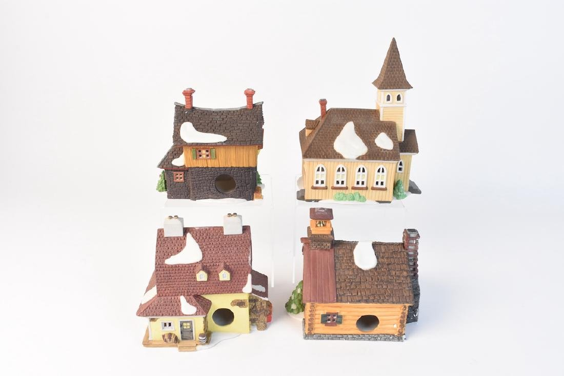 (4) Dept 56 Porcelain Sleepy Hollow Village - 4