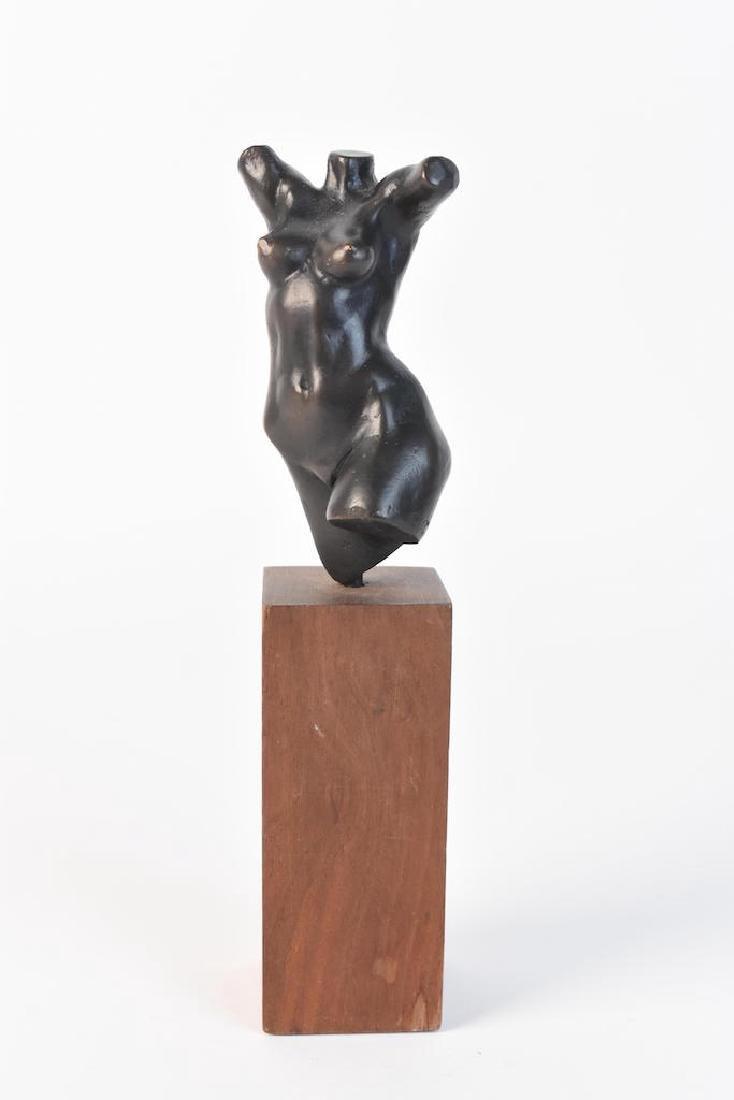 Original Signed Alain Gonckel Female Torso Statue