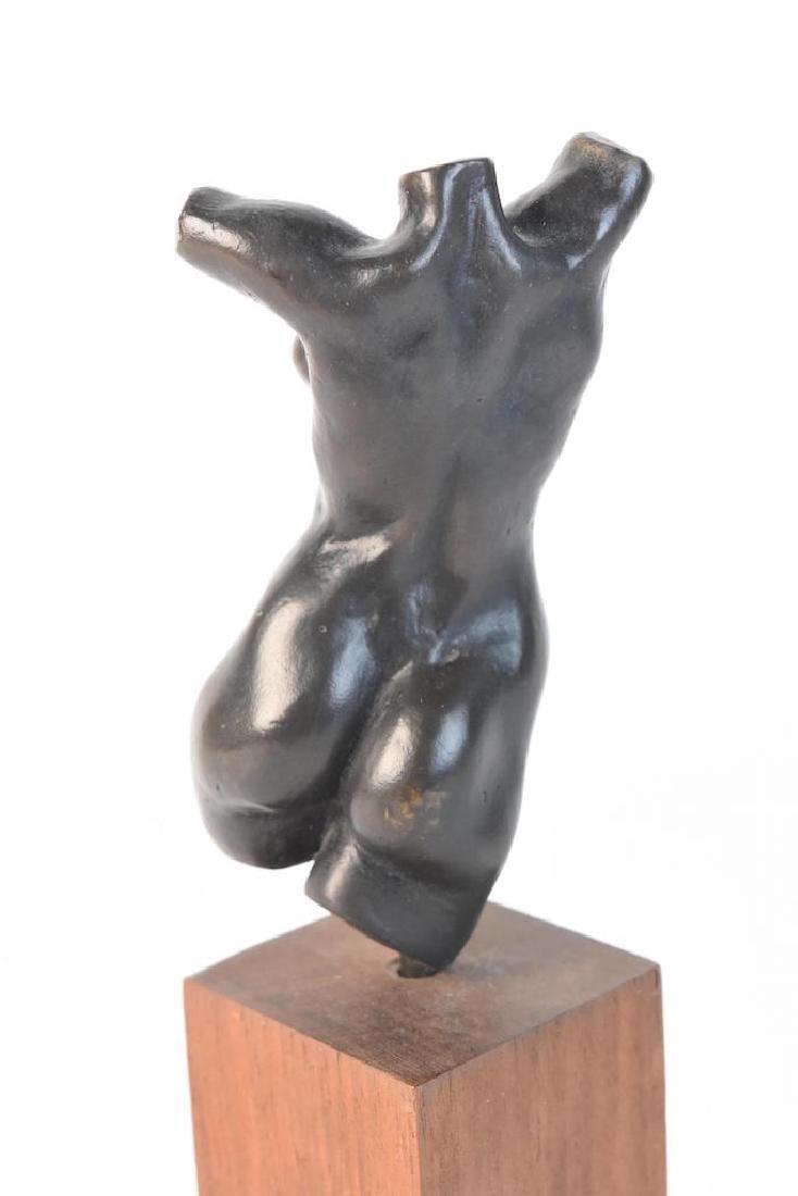 Original Signed Alain Gonckel Female Torso Statue - 4