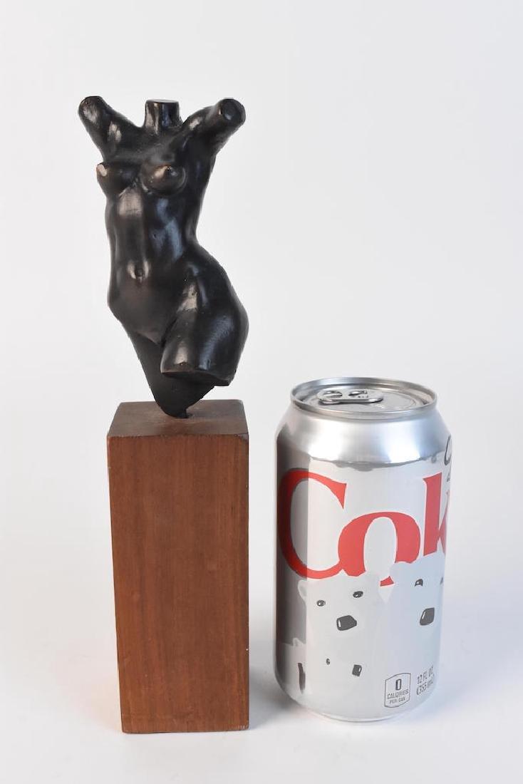 Original Signed Alain Gonckel Female Torso Statue - 6