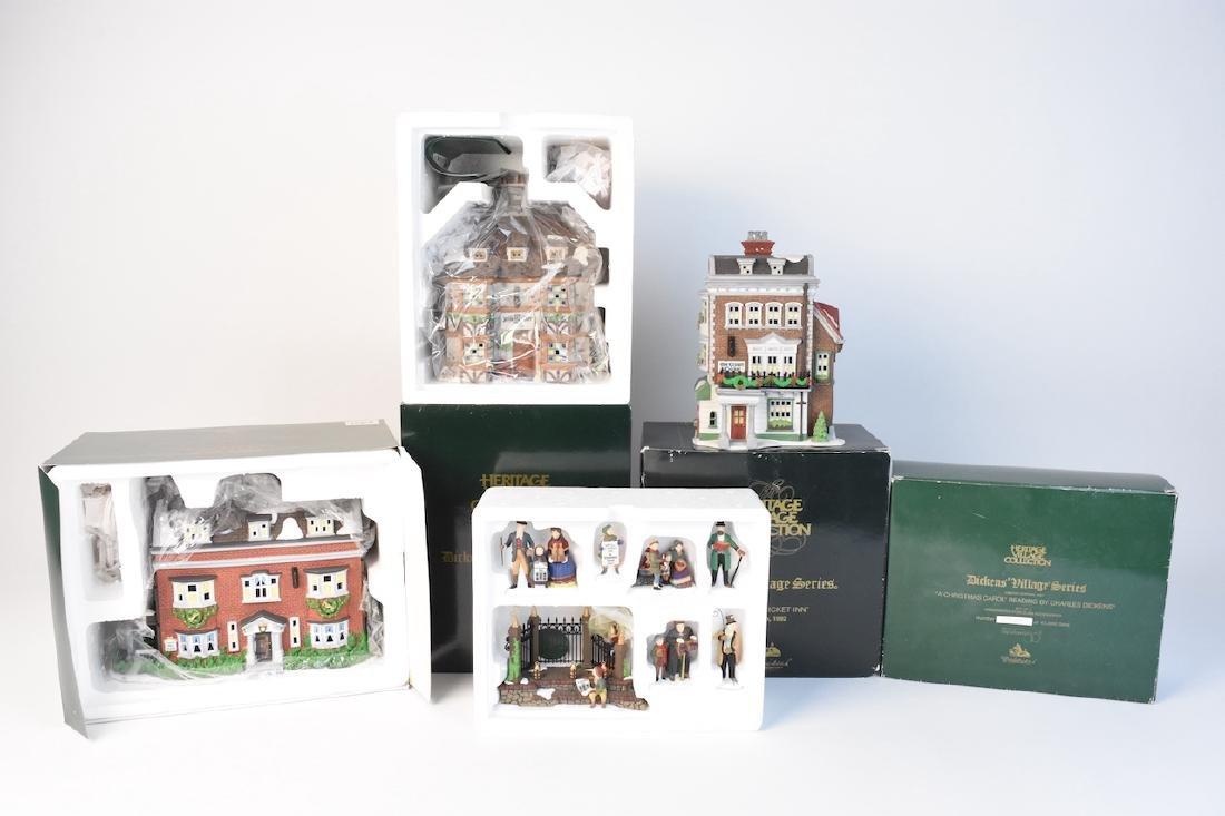 (4) Dept. 56 Christmas Dickens' Village Series
