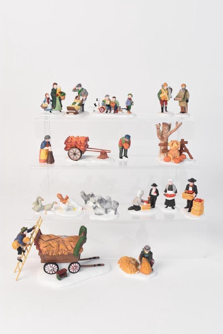 (6) Dept 56 Heritage Village Accessories