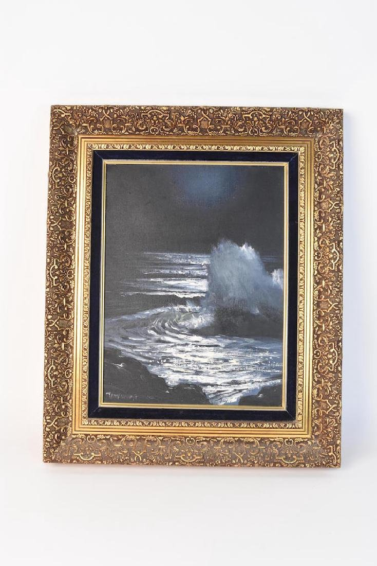 Original SLL Parkhurst Oil Painting; Moonlight