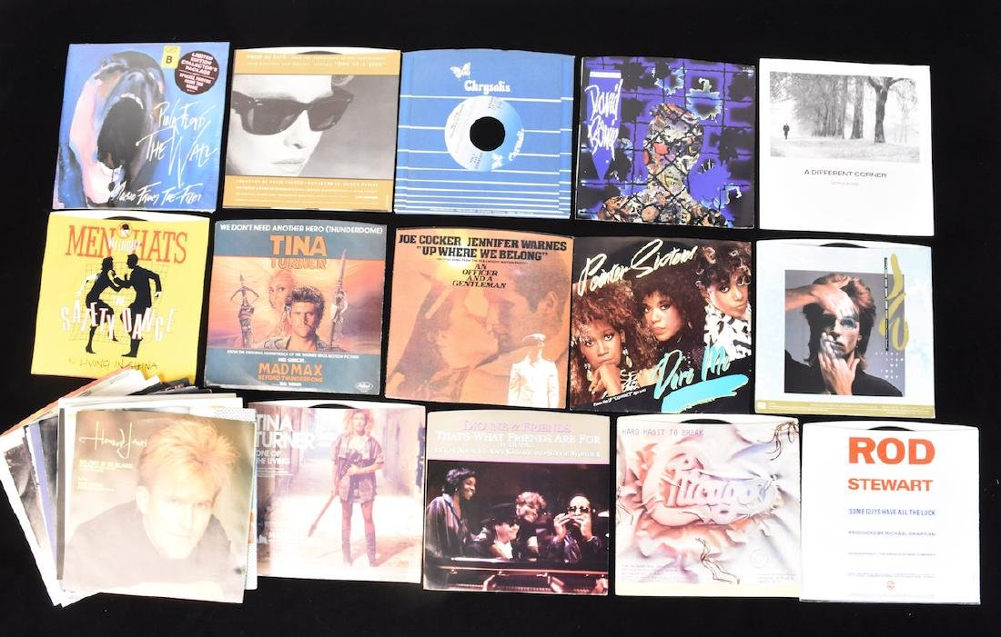 (38) Assorted 80's 45 Records With Sleeves