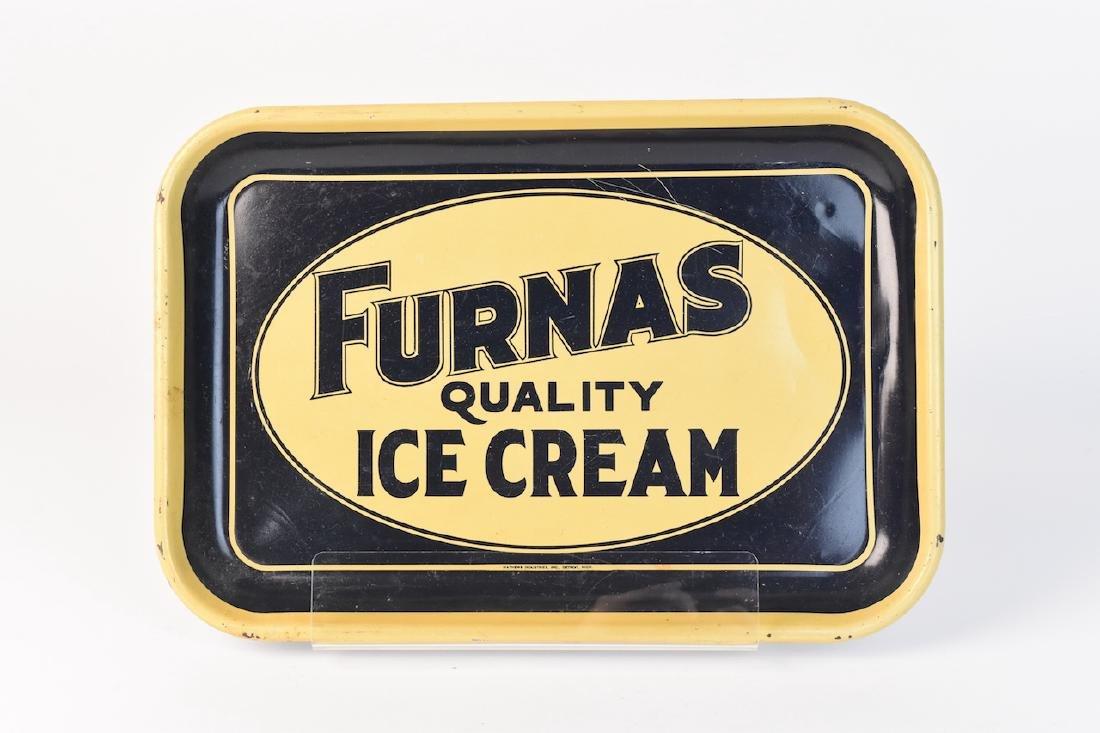 RARE Color Furnas Ice Cream Advertising Tray