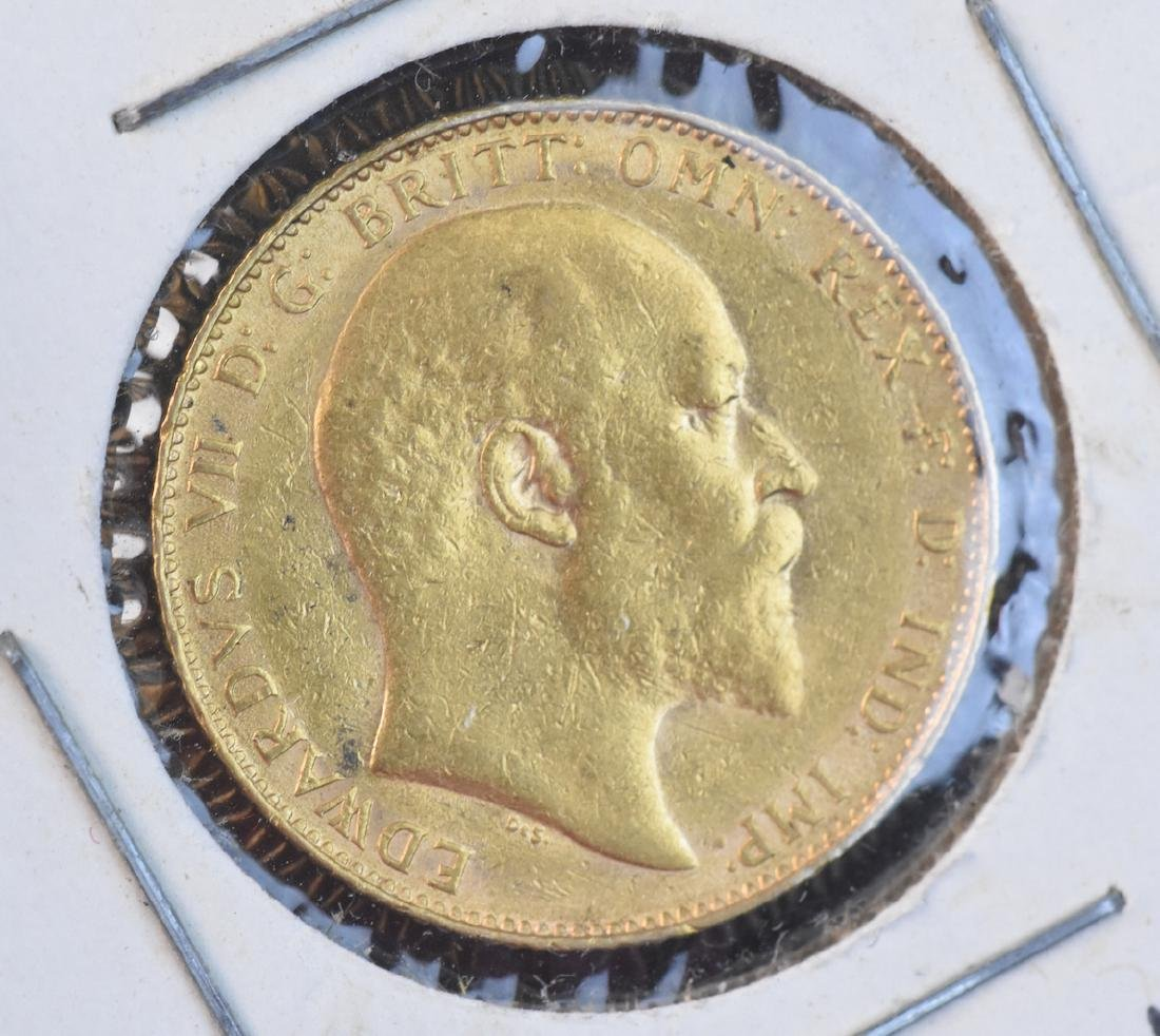 1908 U.K. Gold Sovereign Coin
