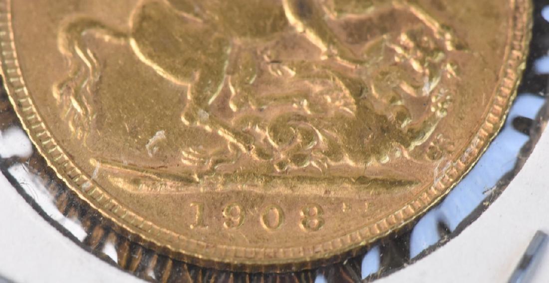 1908 U.K. Gold Sovereign Coin - 3