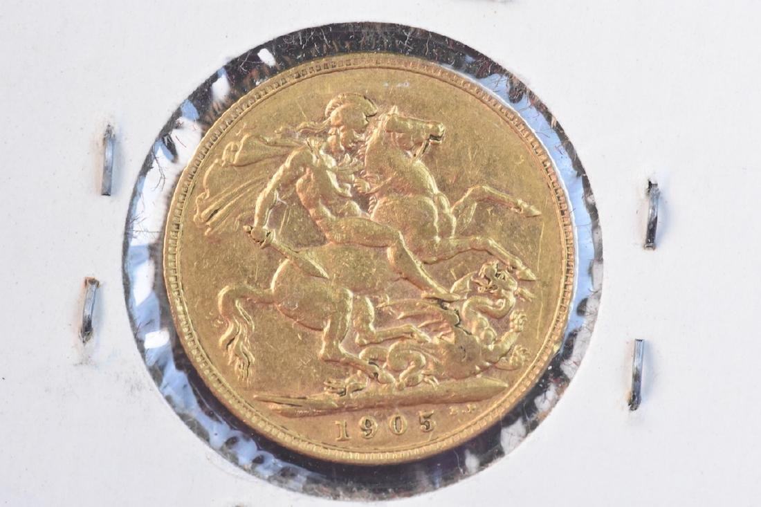 1905 U.K. Gold Sovereign Coin - 2