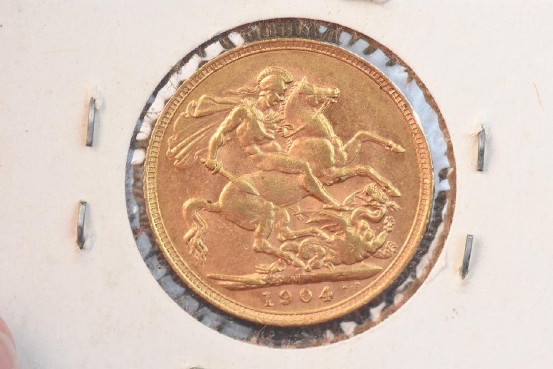 1904 U.K. Gold Sovereign Coin - 2