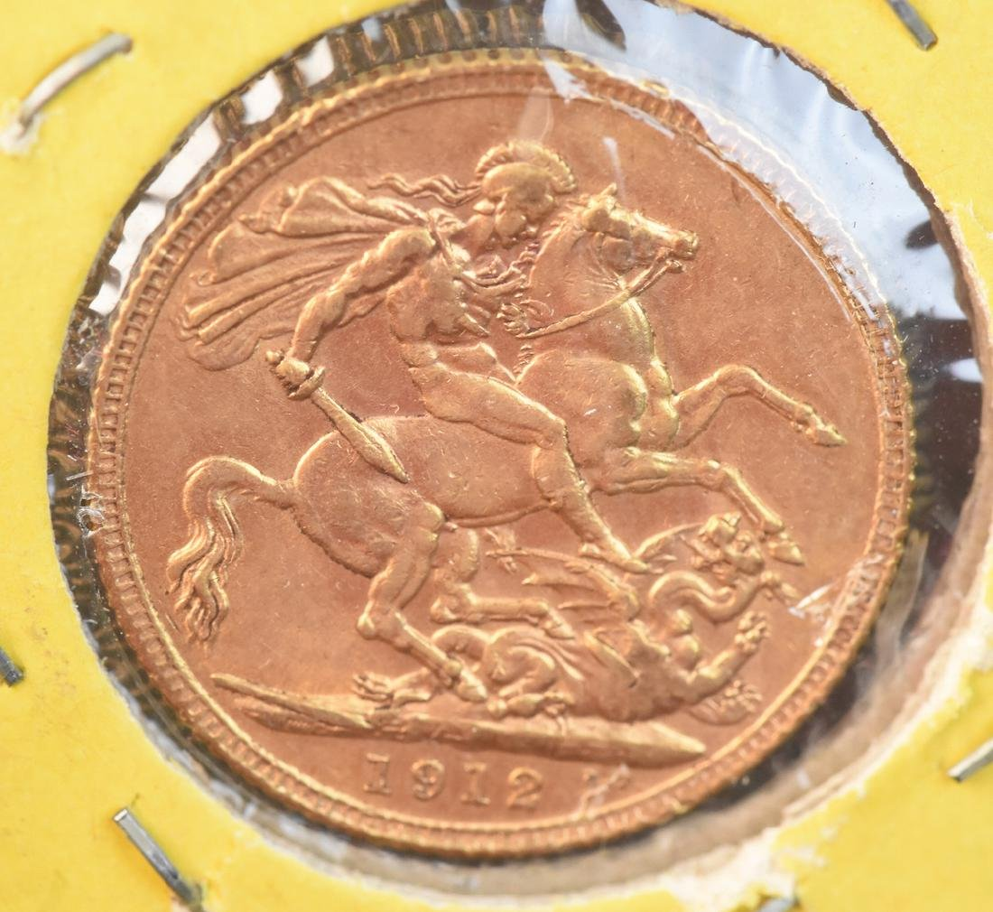1912 U.K. Gold Sovereign Coin - 2