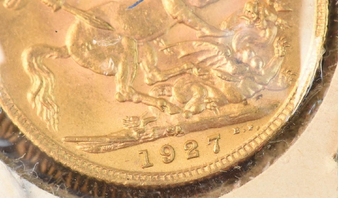 1927 U.K. Gold Sovereign Coin - 3