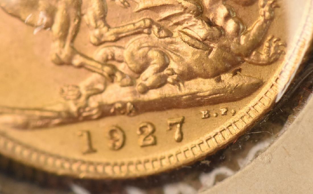 1927 U.K. Gold Sovereign Coin - 4
