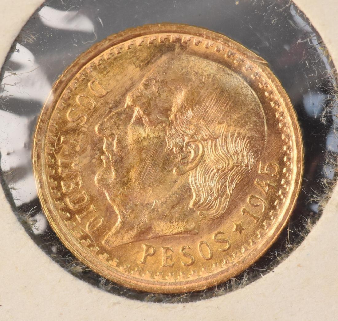 1945 2 1/2 Pesos Mexican Gold Coin