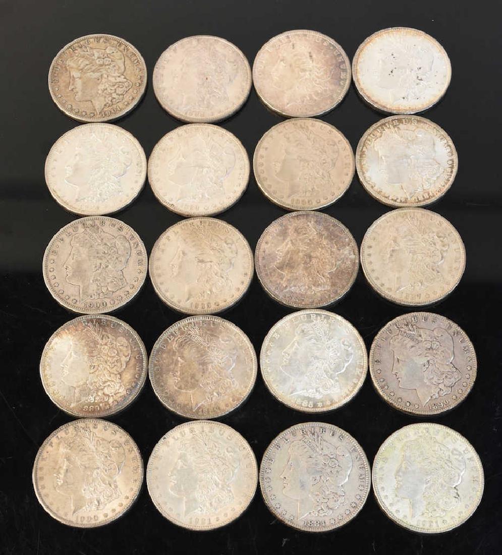 (20) Morgan Silver Dollar, various dates