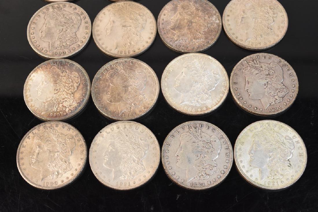 (20) Morgan Silver Dollar, various dates - 3