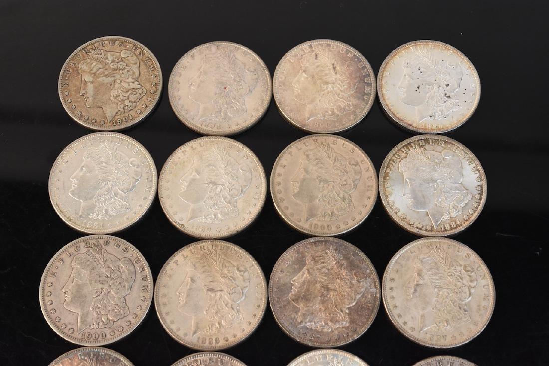 (20) Morgan Silver Dollar, various dates - 4