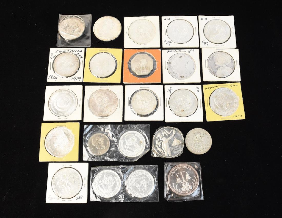 (24) Silver Coins From Around the World