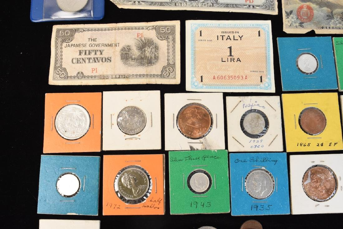 Foreign Coins & Currency Lot - 4