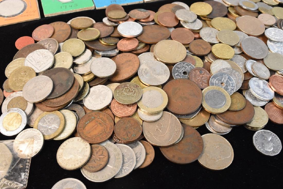 Foreign Coins & Currency Lot - 7