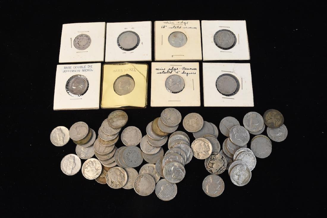 Large Lot of V-Nickels, Buffalo Nickels & Other