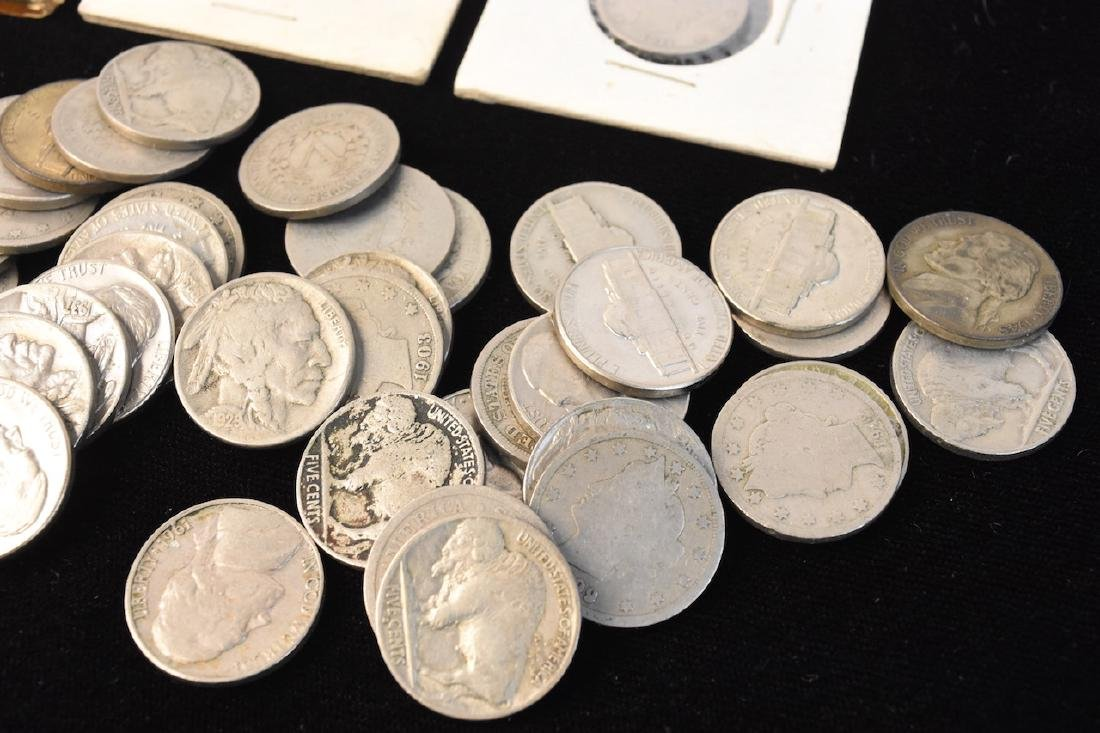 Large Lot of V-Nickels, Buffalo Nickels & Other - 2