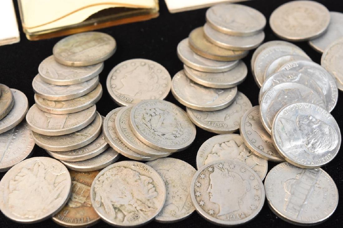 Large Lot of V-Nickels, Buffalo Nickels & Other - 3