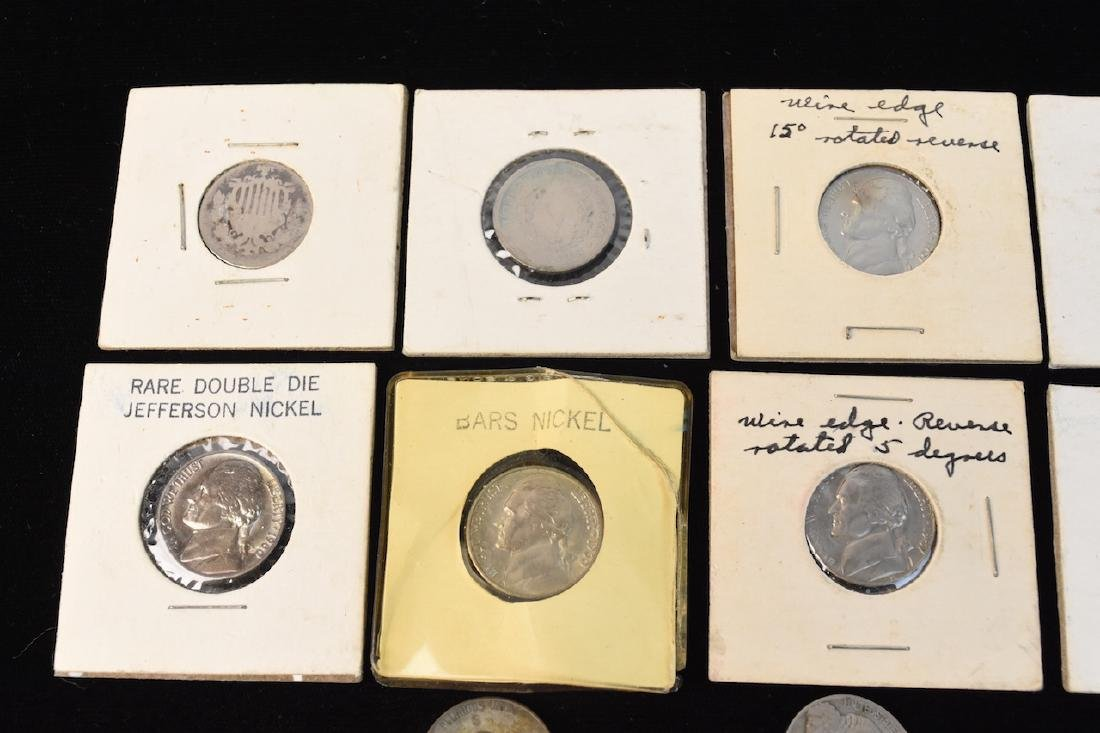 Large Lot of V-Nickels, Buffalo Nickels & Other - 5