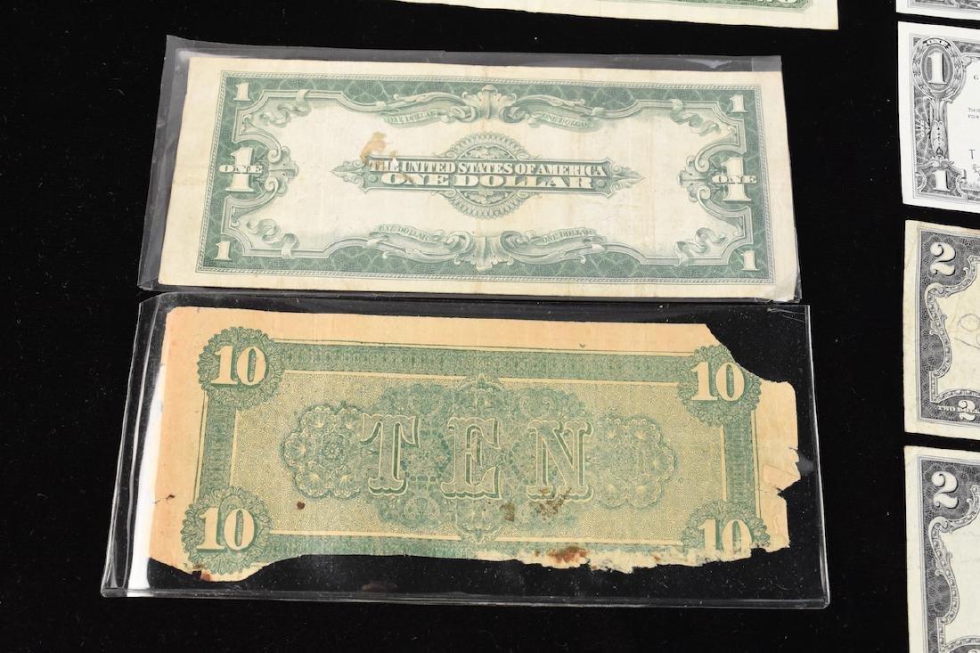 (4) Red Seal $2 Bills, Silver Certificates, More - 3