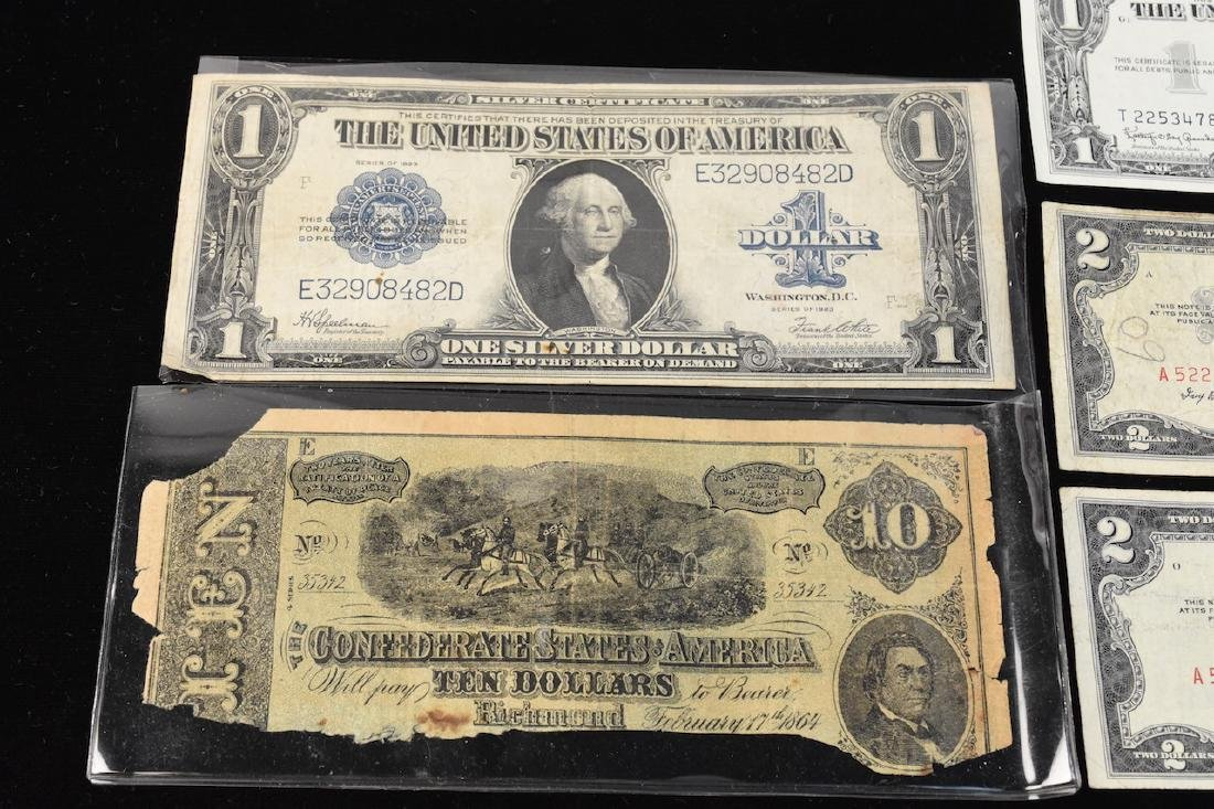 (4) Red Seal $2 Bills, Silver Certificates, More - 4