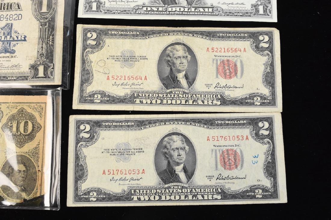 (4) Red Seal $2 Bills, Silver Certificates, More - 5
