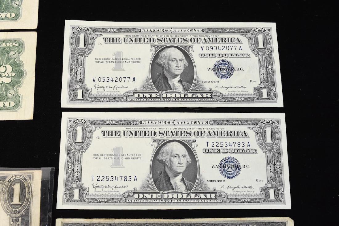 (4) Red Seal $2 Bills, Silver Certificates, More - 6