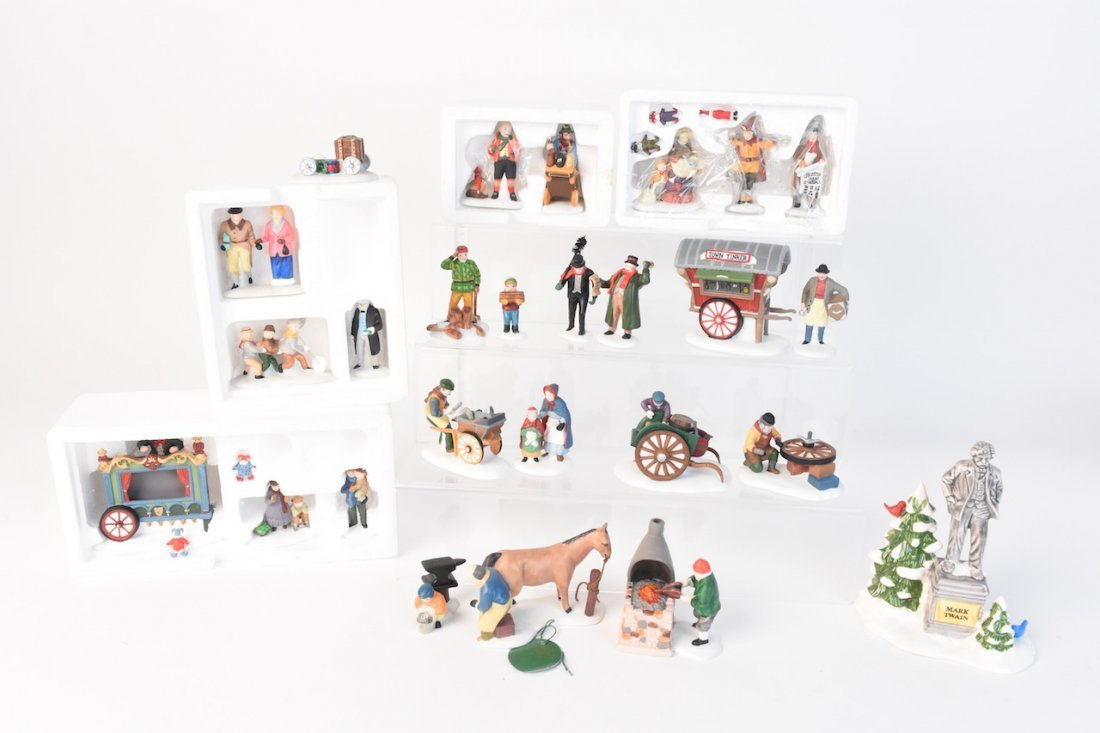 (12) Dept 56 Heritage Village Accessories