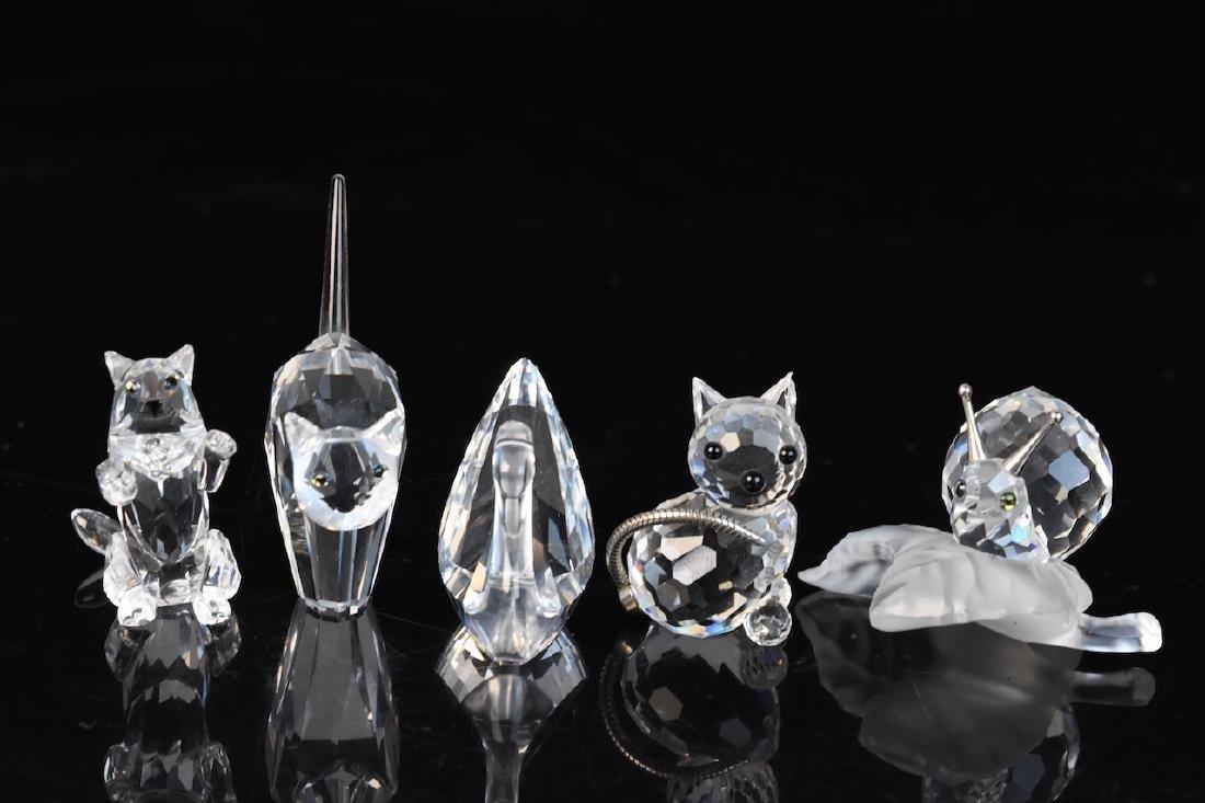 (5) Swarovski Crystal Figurines