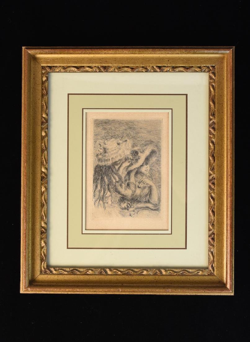"Renoir's Etching ""Le Chapeau Epingle"" Print"