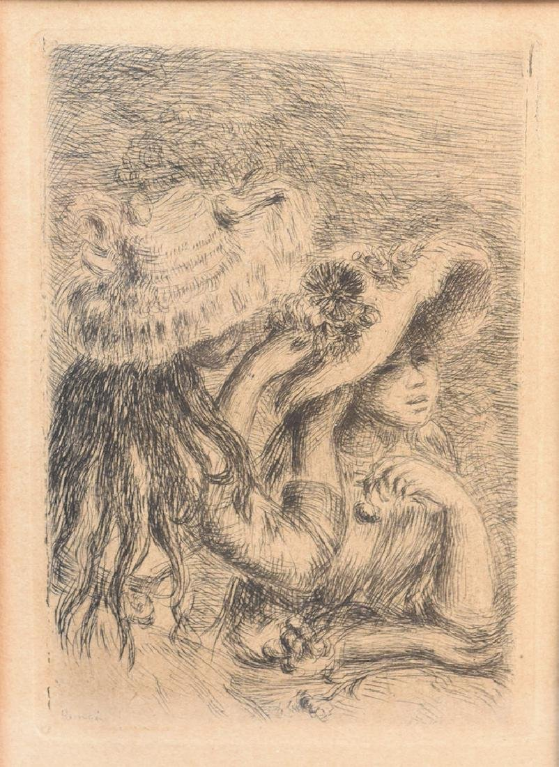 "Renoir's Etching ""Le Chapeau Epingle"" Print - 3"