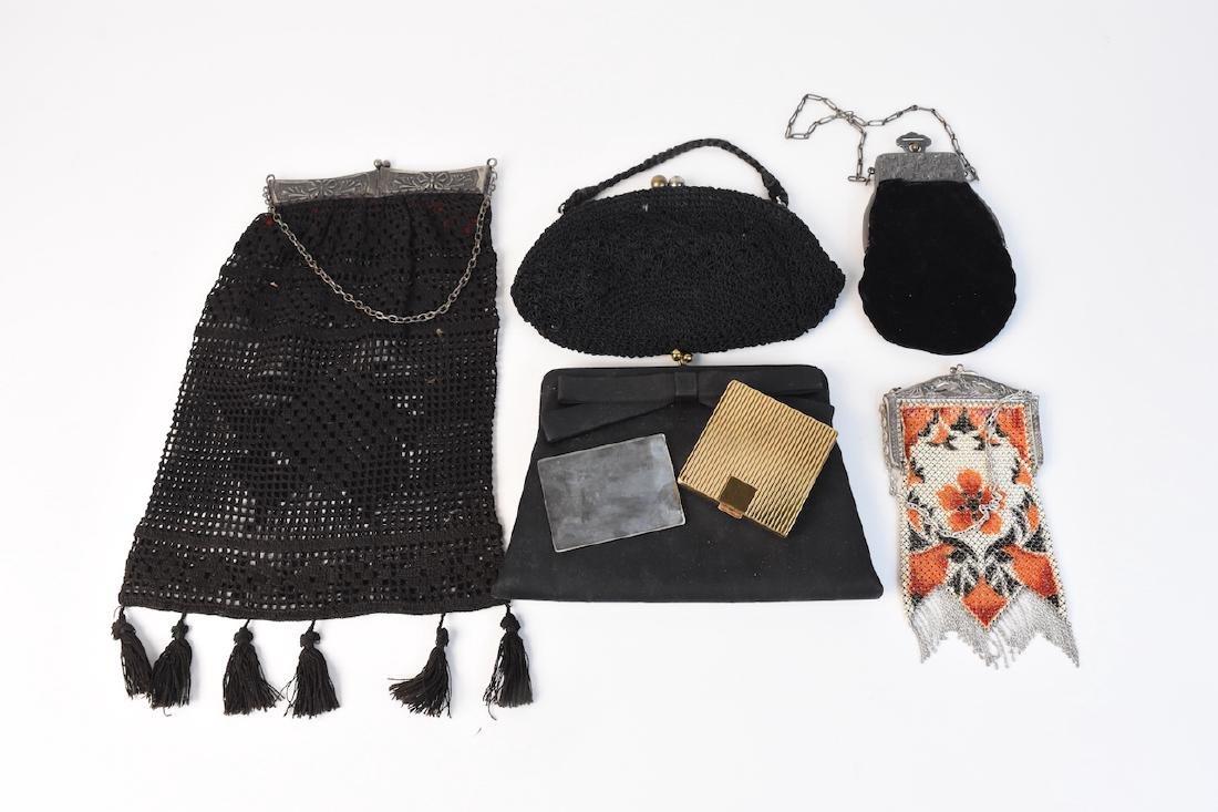 (5) Vintage Purses & Coty Compact