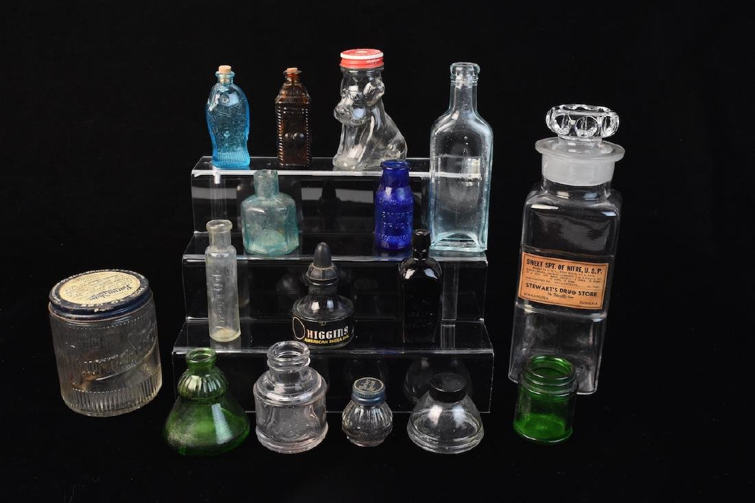 Collection of Various Glass Bottles