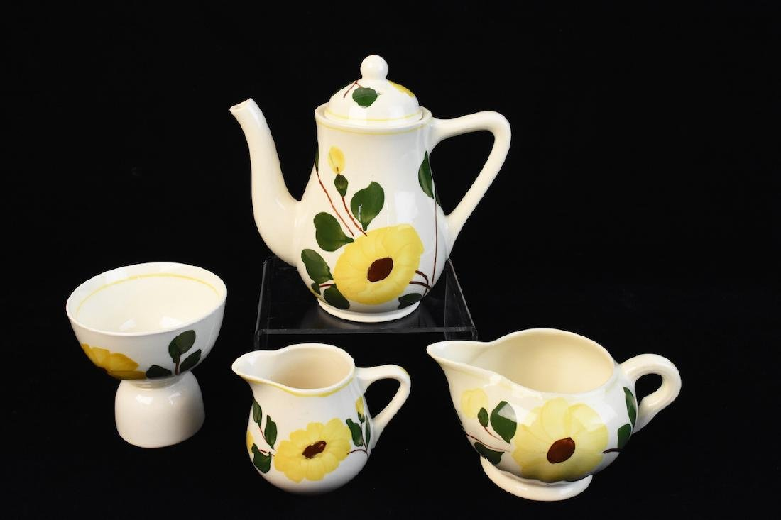 Yellow Flower Hand Painted Porcelain Set