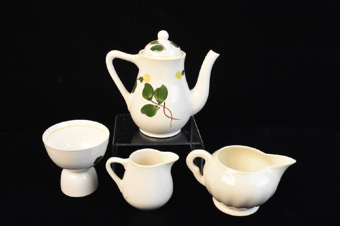 Yellow Flower Hand Painted Porcelain Set - 2
