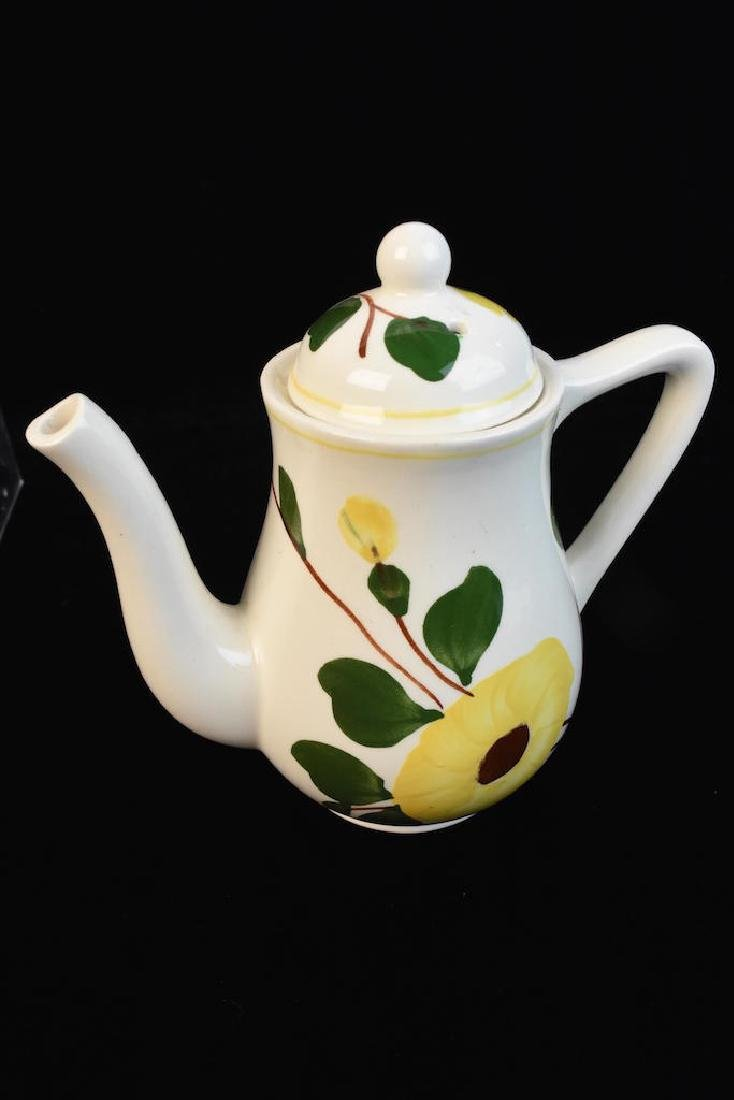 Yellow Flower Hand Painted Porcelain Set - 3