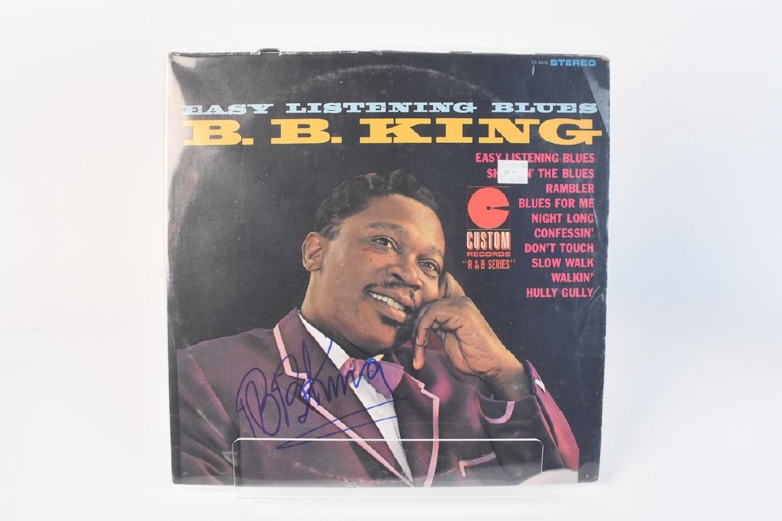 (3) Autographed BB King Records and Book - 6