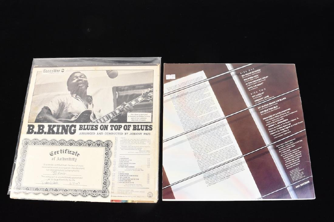 (3) Autographed BB King Records and Book - 7