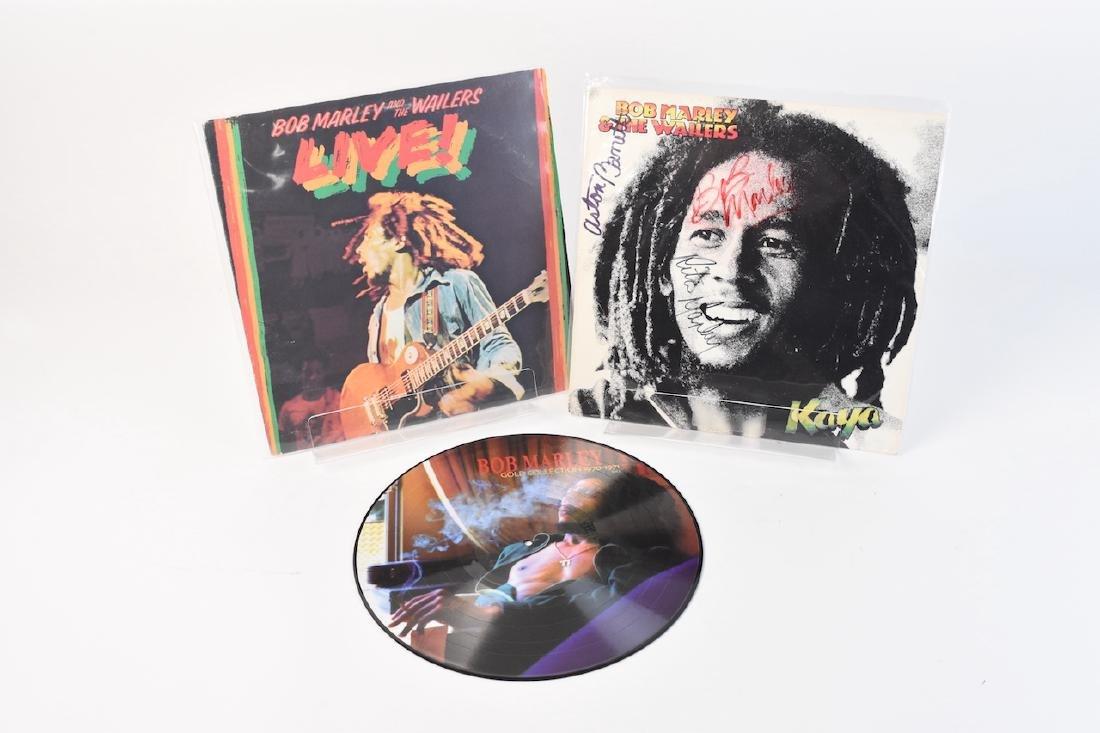 Autographed Bob Marley Album w/ (2) Records