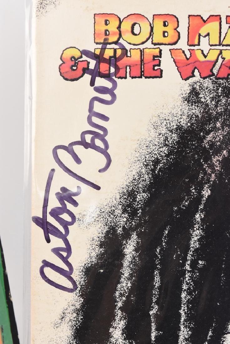 Autographed Bob Marley Album w/ (2) Records - 7