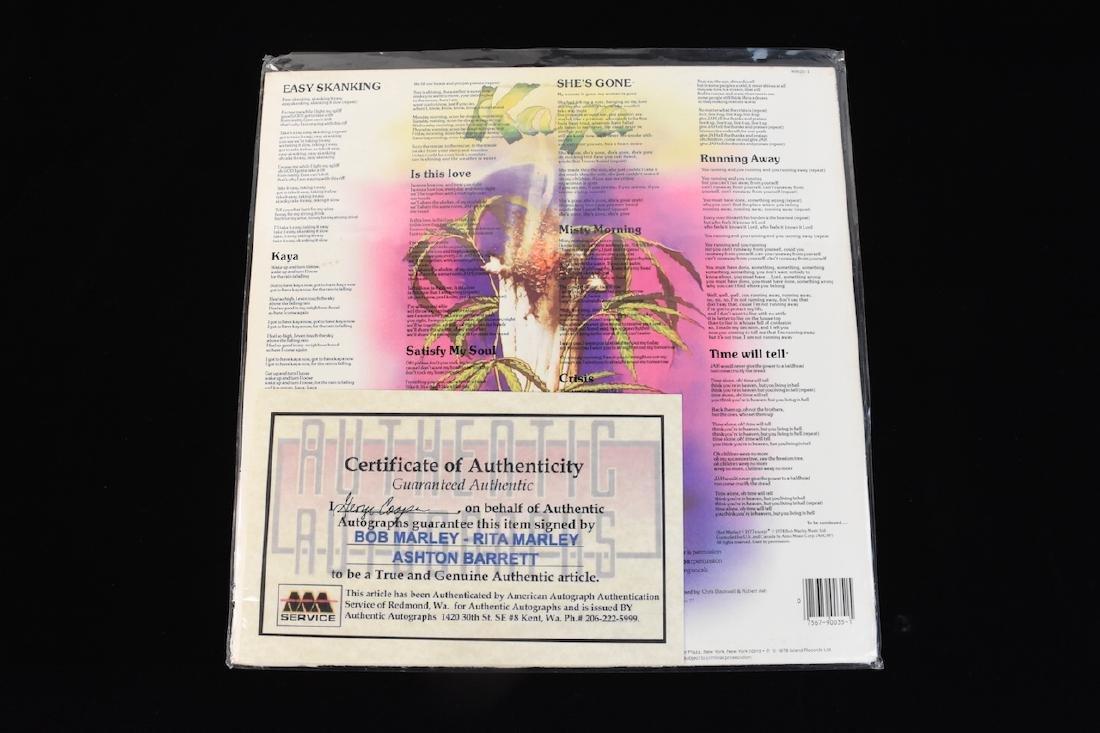Autographed Bob Marley Album w/ (2) Records - 8