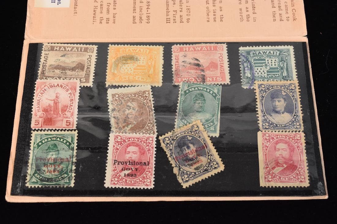 Collection of (12) Old Hawaii Stamps