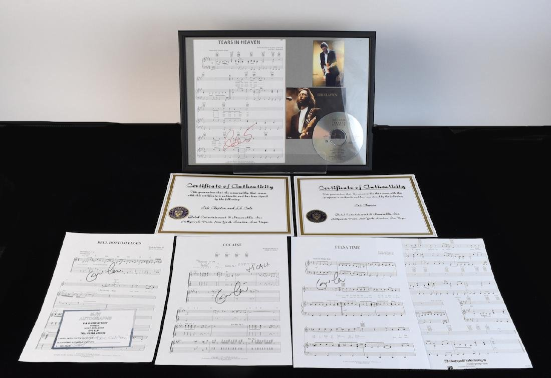 Autographed Eric Clapton Sheet Music