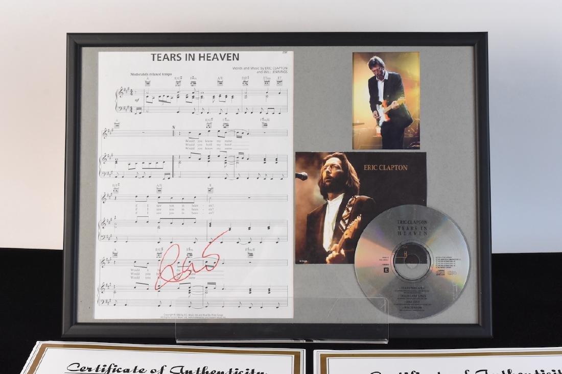 Autographed Eric Clapton Sheet Music - 2