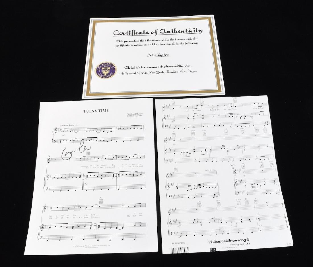 Autographed Eric Clapton Sheet Music - 3