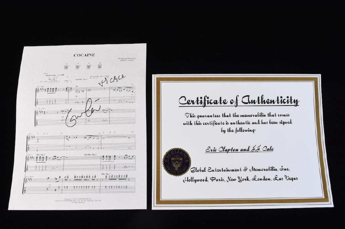 Autographed Eric Clapton Sheet Music - 7